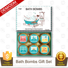 Postage Stamp Collection Bath Bomb Gift Set 6pcs/set Private Label Professional Supplier