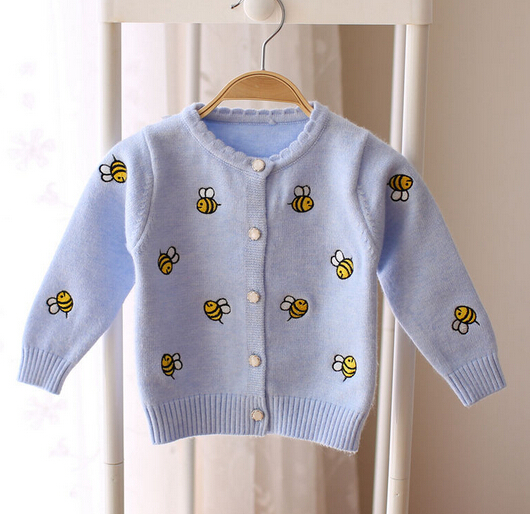 2016 fall girls wear sweater cardigan woolen sweater designs for children