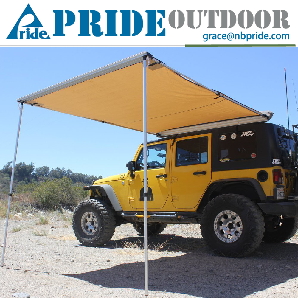 Car Roof Tent Canopy Truck Outdoor Collapsible Waterproof Canvas Beach Side Car Awning