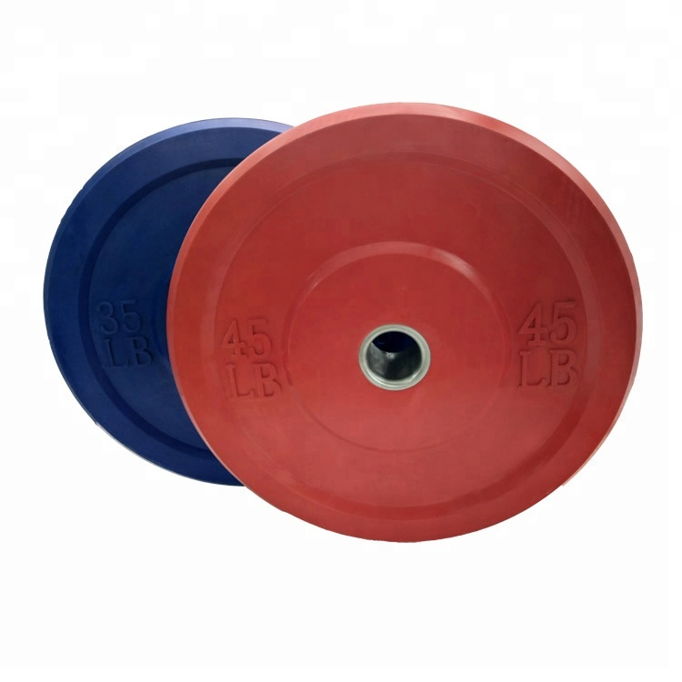 Supply OEM Solid Rubber Bumper 45lb <strong>Weight</strong> Plates