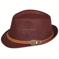 Free Shipping by DHL/FEDEX/SF wholesale paper straw fedora hat