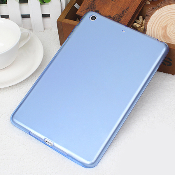Transparent slim silicon case,soft TPU tablet computer shock case for iPad