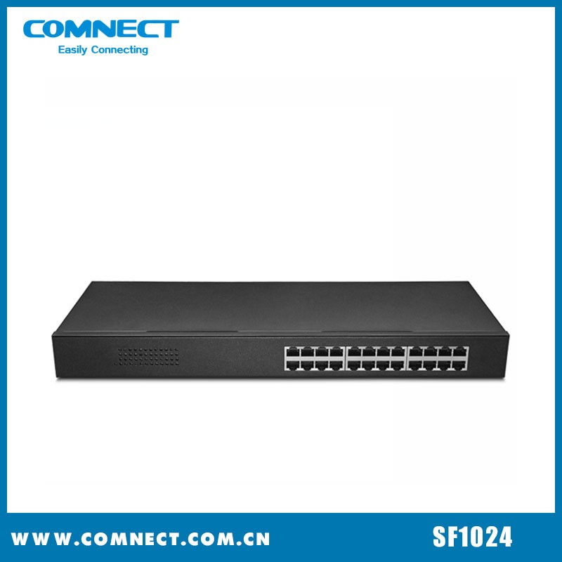 24-Port Wifi Ethernet Switch with Factory Price 100Mbps