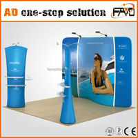 Aluminum And Tension Fabric Exhibition Booth Construction