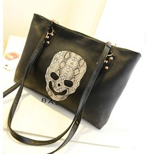 New Korean Women Big Bag Handbags With Skull