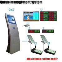 Bank queue management display system equipment
