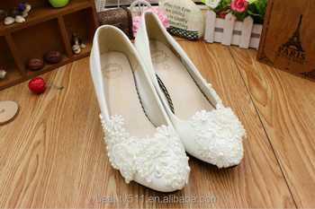 The pearl butterfly hand-married shoe girl shoes with the bridesmaid dress shoe WS025