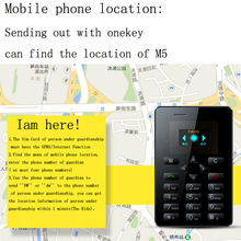 M5 Card size mobile phone gps tracking by phone number