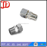 Steel /Brass Straight Male Bite Type Tube Connector Swagelok Pipe Fittings 1CT-RN/1DT-RN