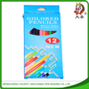 12 wooden colour drawing pencil,artist color dipped pencil