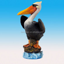 Hand Painted polyresin pelican figurines