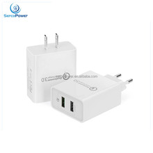 Universal High Quality OEM Available Quick Charge3.0 Dual USB Wall Charger