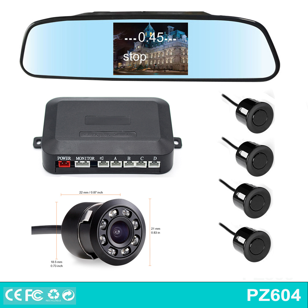 4.3 inch monitor TFT LCD Screen Car video parking sensor system