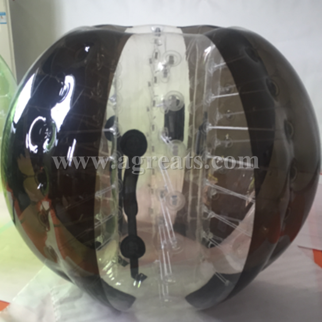 Best popular black <strong>n</strong> clear alternating inflatable body zorb ball sport bubble ball cheaper on sale from China GB7216