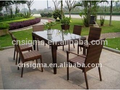 2017 Trade Assurance Popularly Outdoor waterproof alum frame rattan modern square dining table set designs