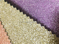 Factory Supply Glitter PU Artificial Leather Fabric for Shoes and Bags