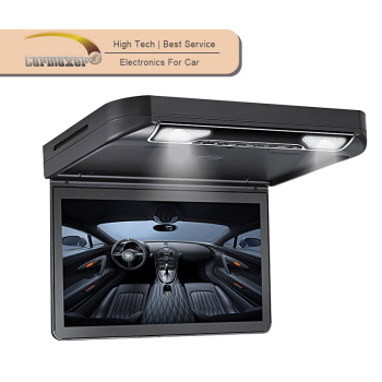 13.3 inch roof mount dvd player 1080p flip down car monitor with audio input
