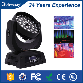 Waterproof item A-2092 10w 36pcs 4 in 1 led moving head wash