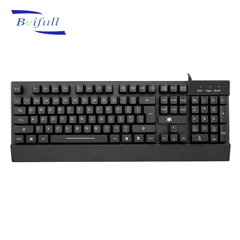 High Quality Office use USB wired computer keyboards made in Shenzhen China