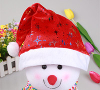 2015 new product Plush/Non-woven Santa Hat High Quality Christmas Hat/Christmas Hat Promotions For Christmas Party Decoration