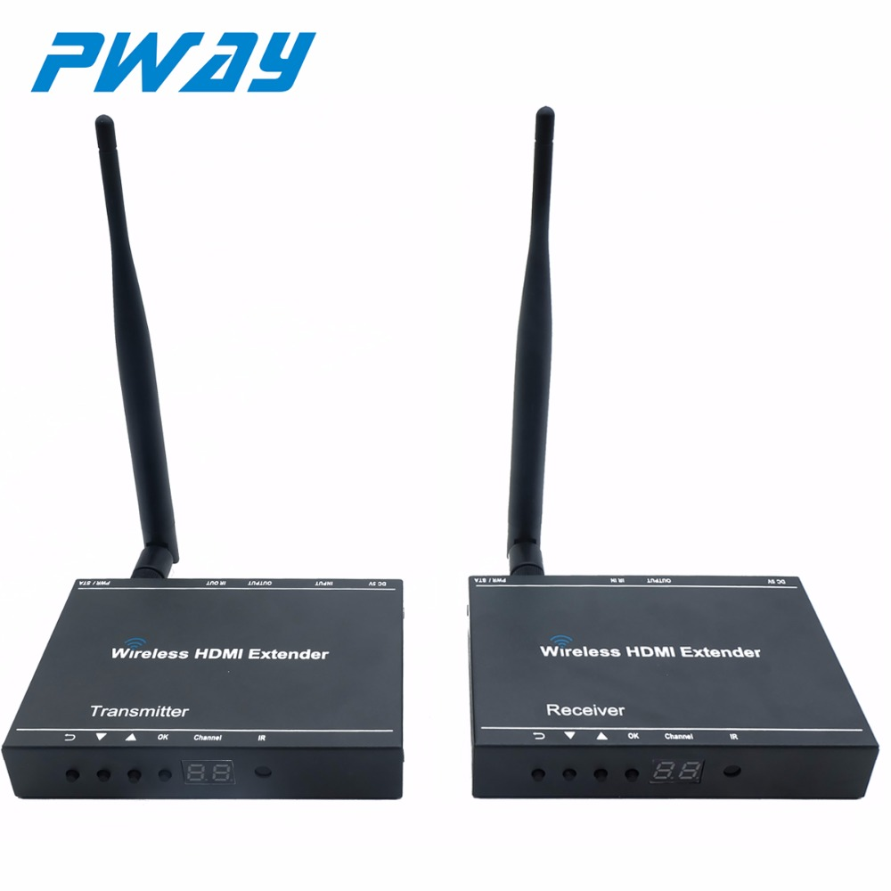 Wireless video extender 1080P Transmitter Receiver fm for video and cctv system 50m no latency with IR remoute control Loop-out