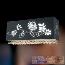 modern Laser cut flowers lampshade & top crystals hanging Pendant Light CE approval