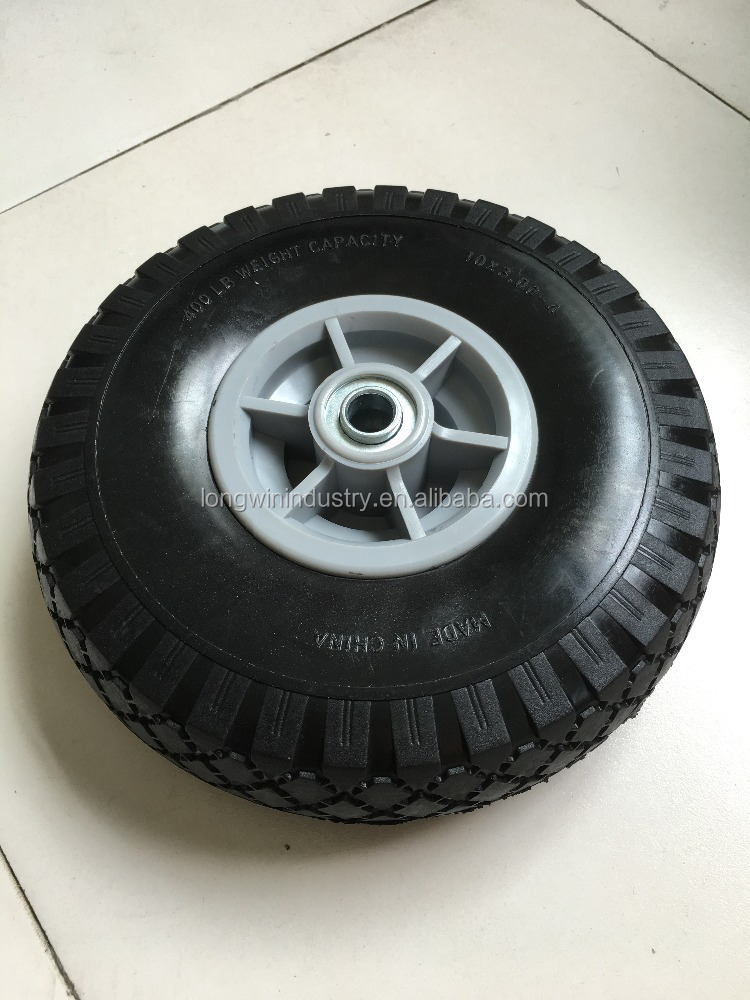 Wholesale high quality 10 Inch hand trolley solid rubber wheel