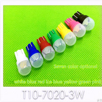 Super bright T10 7020-3W width lamp car led light