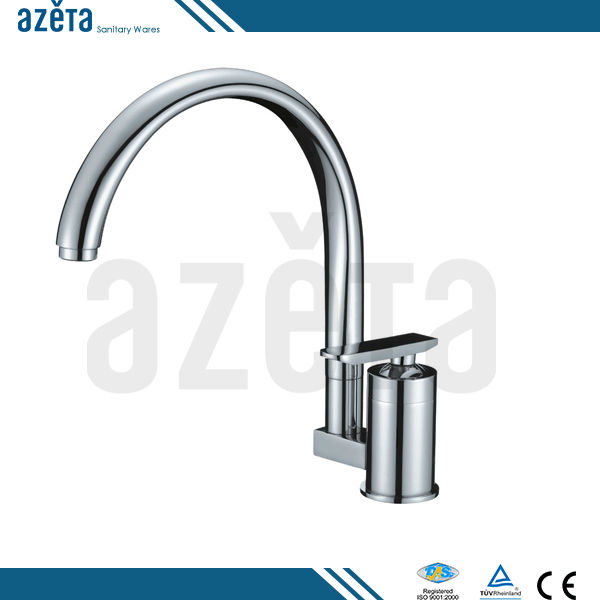 Sanitary Ware Copper Round Design Water Mixer Kitchen Faucet