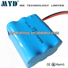 AA 7.2V 600mAh Ni-CD Battery Pack(Customized)/600mAh Rechargeable Battery Pack/AA Battery Pack