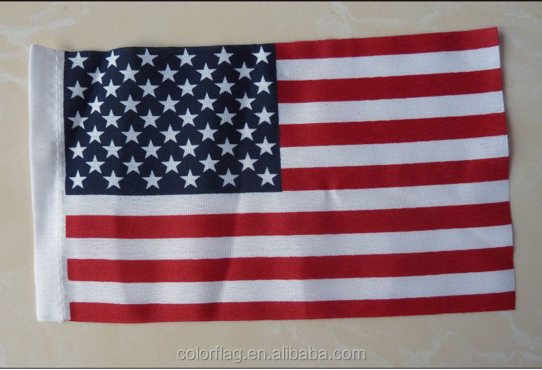 210D polyester 3x5ft embroidered american flag