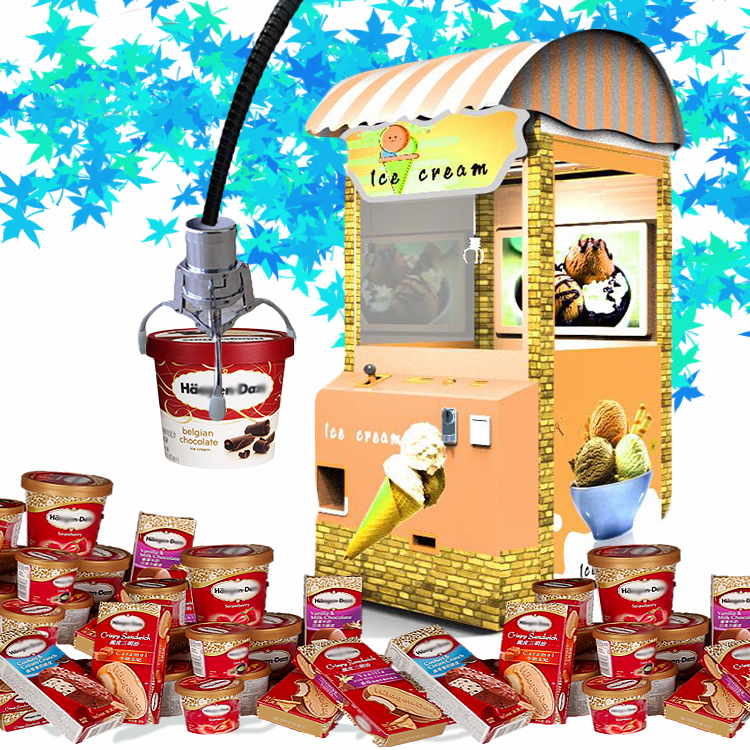 Factory price Fun Vending Interactive games subverting unmaned convenience for sale ice cream vehicles vending machine