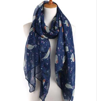 Wholesale Women's Bird Lover's Delight Print Scarves