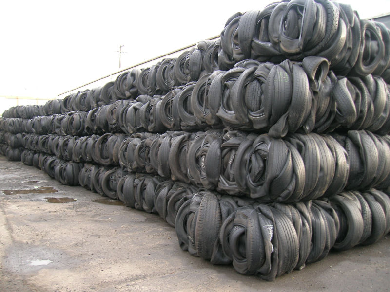 USED TIRES BALED