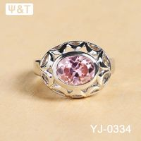 18ct white gold diamond ring indian simulated ruby rings