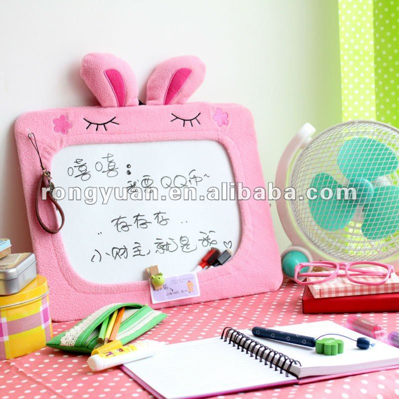 Wholesale cute animal shape fabric small whiteboard size