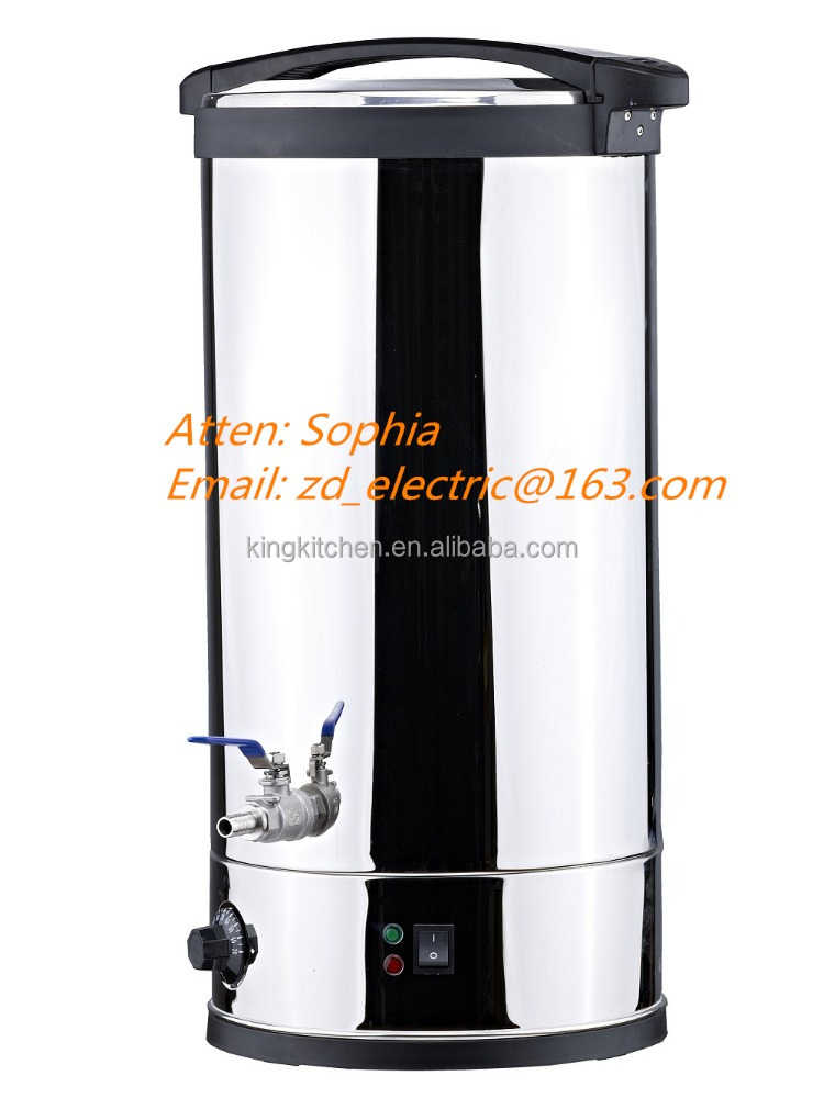 30L BEER MASH TUN/ FOR HOME BLEWING BEER/ ELETRICA HOT WATER POT