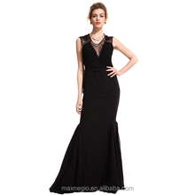 New V Neck Spaghetti Strap Online Univision Boutique Sequin Fabric Long Mermaid Evening Dress