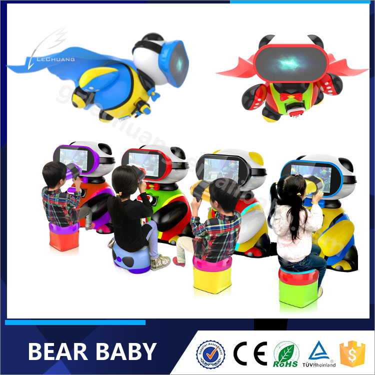 Kids coin operated Bear Baby puzzle vr children games machine low investment business