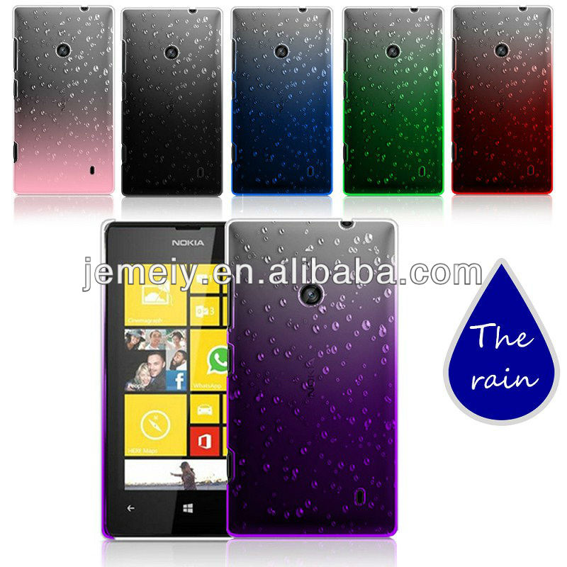 PC hard case drip-drop apperance raindrop surface protection cover for Nokia 520