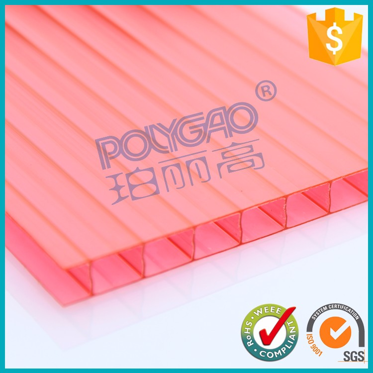 New style Lexan clear twin wall lowes polycarbonate roofing sheet for sun house