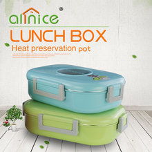 Rectangular Leakproof stainless steel insulated thermos lunch box/Metal food warmer container