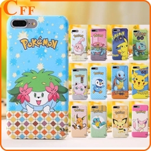 For iPhone 7 Mobile Phone Accessories Cute Japan Game Cartoon Pokemon Pocket Monsters Matte Hard Cover Case Coque Fundas for iPh