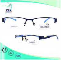wenzhou fashion eyewear wholesale acetate temple metal optic frame