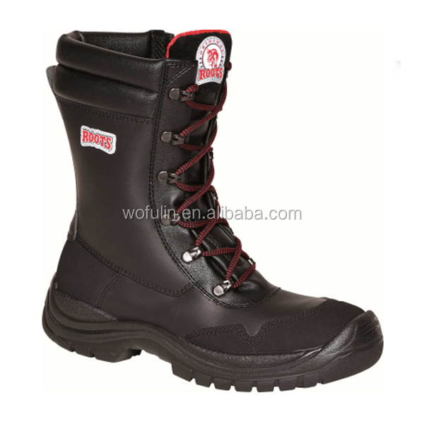 leather safety boots wellington/industrial safety boots for oil and gas