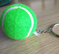 wholesale custom colored tennis ball keychains for promotion