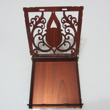 Latest Wholesales Elegant Laser Cutting Wooden Wedding Invitation Box