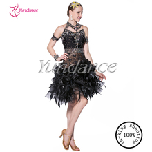 black salsa dresses for competition L-1414