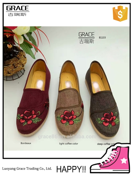 Hot selling winter embroidered shoes