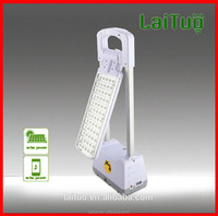 2015 new mfga led folding 3w rechargeable battery study power Touch switch desk reading solar panel lamps
